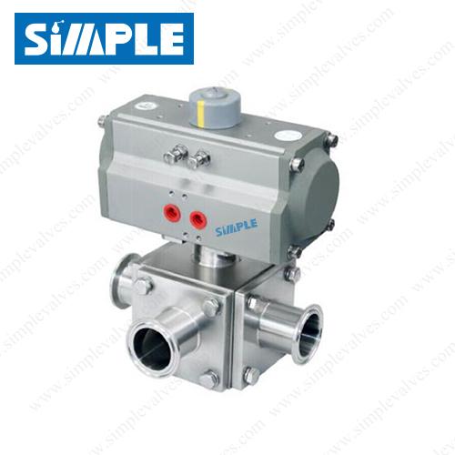 3 way sanitary valve