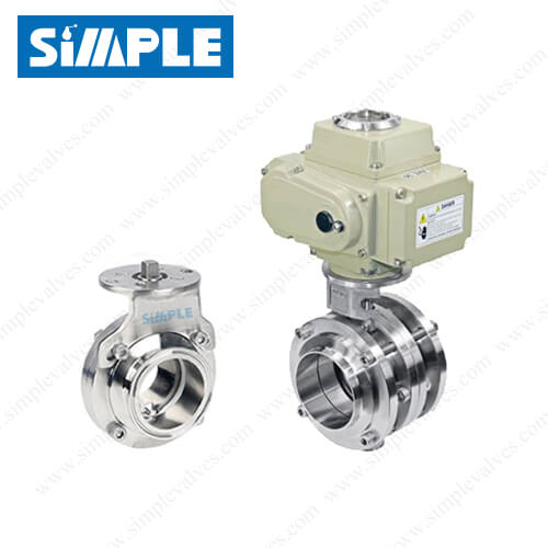 Sanitary Electric Actuated Butterfly Valve