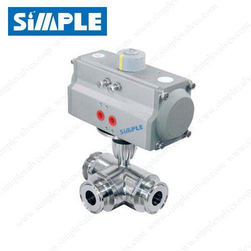 tri clamp 3 way ball valve