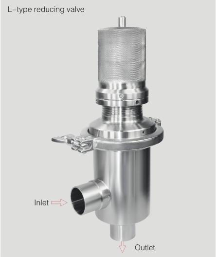 L type reducing valve