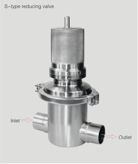 S type reducing valve