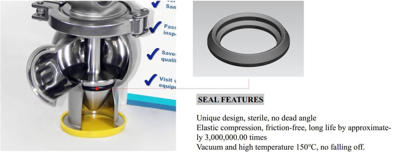 UNIQUE SEAL DESIGN