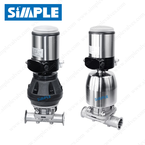 pneumatic operated diaphragm valve