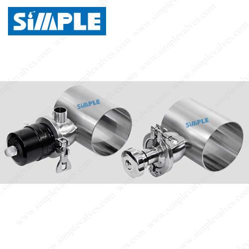 zero static diaphragm valve